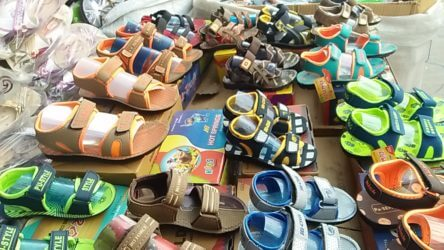 Baby shoes and sleeper from factory